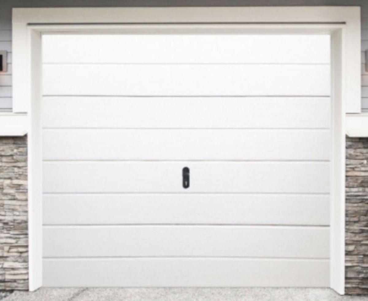 Brama segmentowa biała