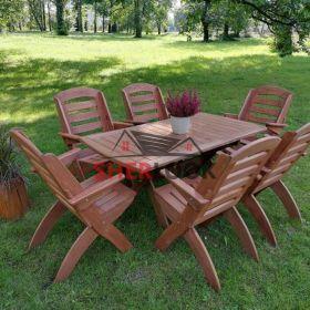 Meble ogrodowe drewniane, składane typ X lamel nr. 1