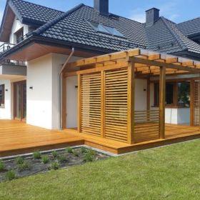 Tarasy drewniane, kompozytowe, elewacje drewniane, altany, pergole,