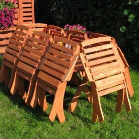 Meble ogrodowe 8 krzeseł + stół owalny, typ X