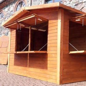 Domek drewniany Handlowy punkt do sprzedaży truska