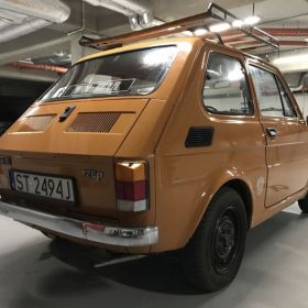Fiat 126p zaproszenie Polmozbyt rachunek z 84r