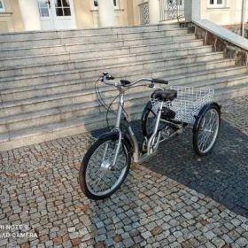 Rower trzykołowy rehabilitacyjny Gazello z napędem