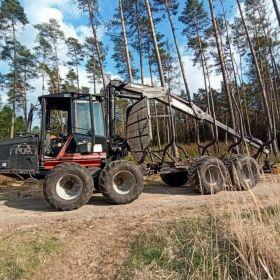 Forwarder Valmet 820, ciągnik leśny